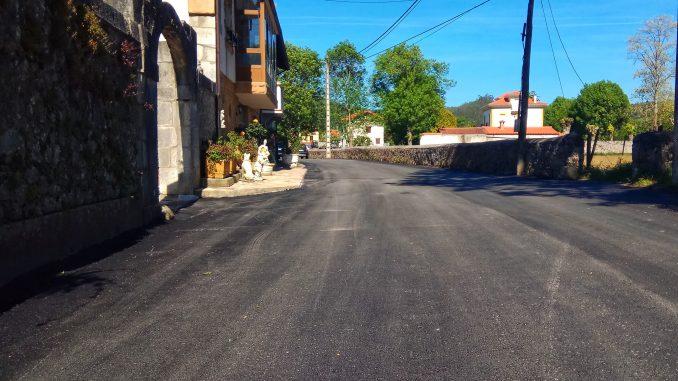 asfaltado en los barrios el Perujo y el Rao hazas de cesto beranga praves
