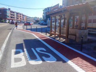 instalación en Beranga de una marquesina en sentido Santander - Bilbao